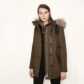 Maje Parka with braided details