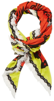 "Kenzo Working Tools Square Scarf, 52"" x 52"""