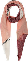 Barneys New York WOMEN'S JACQUARD COLORBLOCKED SCARF