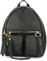 See by Chloe Patti backpack - women - Cotton/Leather/Sheep Skin/Shearling - One Size