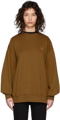 Acne Studios Brown Oversized Face Sweatshirt