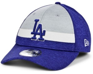 New Era Los Angeles Dodgers Striped Shadow Tech 39THIRTY Cap