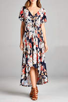 Tua Floral Faux-Wrap Dress