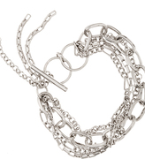Multi Chain Bracelet - Silver