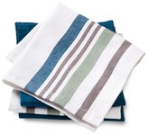 Threshold Dishcloths 4-Pack Blue Basket Weave