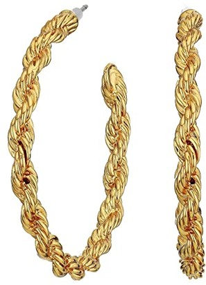 J.Crew Lasso Rope Hoop Earrings (Burnished Gold) Earring