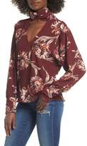 Leith Floral Choker Blouse
