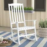 Andover Mills Fordyce Rocking Chair Frame Color: White