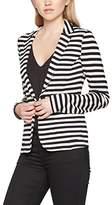 Tom Tailor Women's Striped Jersey Blazer
