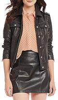 Gianni Bini Leon Genuine Leather Moto Jacket