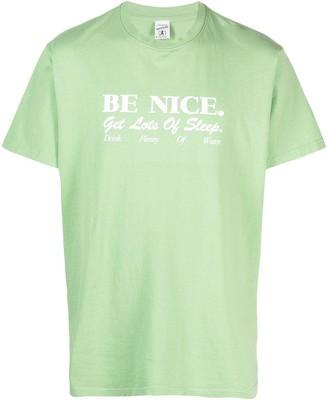 Sporty & Rich Be Nice slogan-print T-shirt