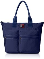 Tommy Hilfiger Nylon Tote Shoulder Bag, Navy, One Size