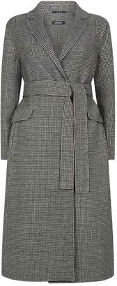 Max Mara Houndstooth Double-Face Wool Coat