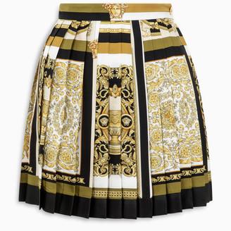 Versace Barocco Mosaic pleated silk skirt