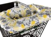 Balboa Baby Shopping Cart and High Chair Cover in Yellow Floral