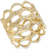 INC International Concepts Openwork Crystal Accented Wide Bangle Bracelet, Only at Macy's