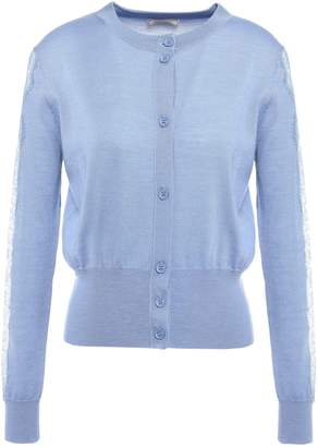 Nina Ricci Lace-trimmed Wool-blend Cardigan