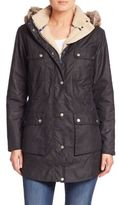 Barbour Carribena Faux Fur-Trim Waxed Cotton Jacket