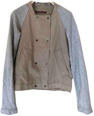 Comptoir des Cotonniers Camel Cotton Leather Jacket for Women