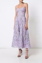 Marchesa Strapless Tea Dress