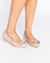Glamorous Light Pink Patent Ballerina Bow Shoes