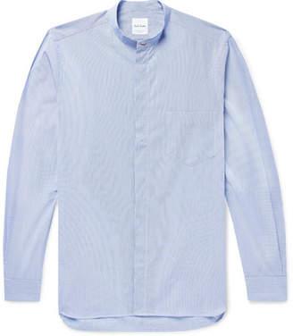 Paul Smith Grandad-Collar Striped Cotton Shirt