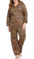 Lauren Ralph Lauren Plus Leopard-Print Classic Sateen Pajamas