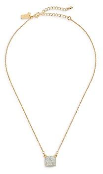 Kate Spade Glitter Square Mini Pendant Necklace, 17