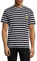 Markus Lupfer Striped Banana Embroidered Tee