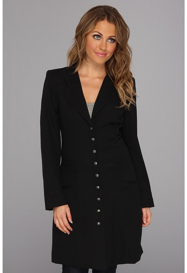 Scully Adora Wool Crepe Frock Coat (Black) - Apparel
