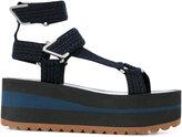 Versace strappy platform sandals - women - Leather/Polyester/Foam Rubber - 36