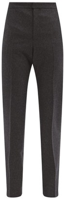 Pallas Paris Harvard High-rise Brushed-wool Trousers - Dark Grey