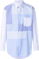 Comme des Garcons multi-striped patch shirt