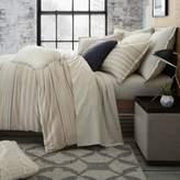 UGG Lunar Stripe Cotton Flannel Full/Queen Duvet Cover in Sesame