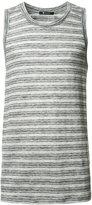 Alexander Wang long striped top - men - Linen/Flax - M