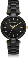 Karl Lagerfeld Aurelie Black Stainless Steel Women's Quartz Watch w/Signature Dial