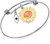 "Unwritten You are My Sunshine"" Bangle Bracelet in Stainless Steel and Silver-Plate"