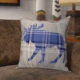 Lowes Moose Plaid Throw Pillow Union Rustic