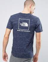 The North Face Red Box T-Shirt Back Logo In Navy Marl