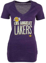 adidas Women's Los Angeles Lakers Stretched Type T-Shirt