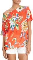Lauren Ralph Lauren Linen Floral Paisley Top