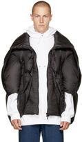 Chen Peng Black Collared Puffer Jacket