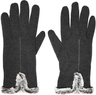 Isotoner Faux-Fur Cuff Thermal Gloves