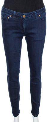 Roberto Cavalli Indigo Denim Tapered Fitted Jeans M