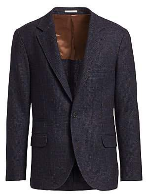 Brunello Cucinelli Men's Textured Notch Lapel Sportcoat