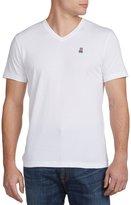 Psycho Bunny Big & Tall V-Neck Logo T-Shirt (3XTall, Grey)