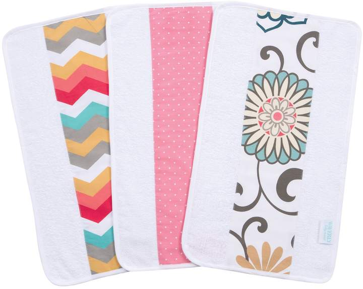Trend Lab Waverly Pom Pom Play 3 Piece Jumbo Burp Cloth Set