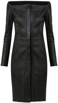 Tufi Duek Leather Short Dress