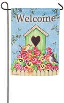 "Evergreen 18"" x 12.5"" ""Welcome"" Indoor / Outdoor Garden Flag"