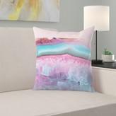 "Pastel Agate Throw Pillow East Urban Home Size: 14"" H x 14"" W x 1.5"" D"